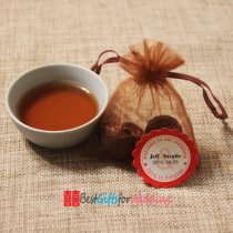 Chinese Style Wedding Favor - Tea Coins Set with Personalized tag